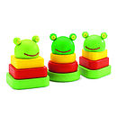 Wooden Trio Of Frogs Stacking Toys