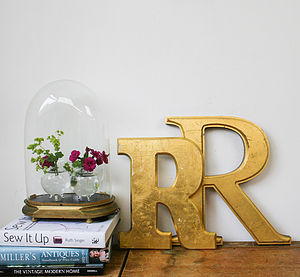 Genuine Vintage Shop Letters 'R' - room decorations
