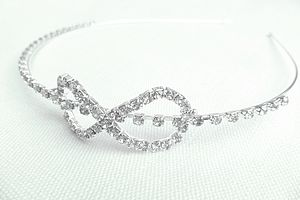Girls Diamante Bow Head / Alice Band - wedding fashion
