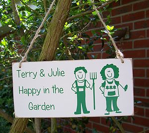 Personalised Couples Garden Sign - outdoor decorations