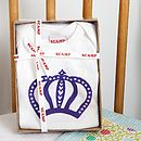 Crown Baby Grow And Bib Gift Set