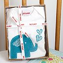 Trumpety Trunk Baby Grow And Bib Gift Set