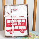 London Bus You Wear It Well Gift Set packaging