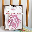 Pink Owl Baby Grow And Bib Gift Set