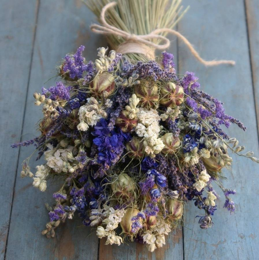 Wedding Flowers: bouquet dried flower wedding