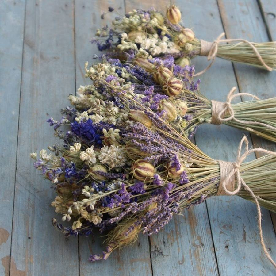 provence dried flower wedding bouquet by the artisan dried ...