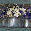 Provence Dried Flower Hair Comb