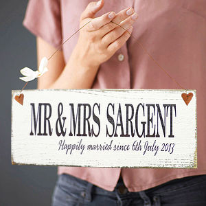 Personalised Moment In Time Sign - wedding gifts