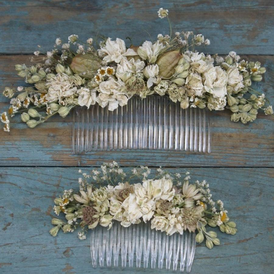 Wild Meadow Dried Flower Hair Comb