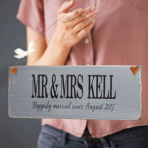 Personalised Wooden Anniversary Sign - outdoor decorations