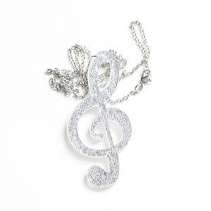 Treble Clef Acrylic Pendant Necklace - necklaces & pendants
