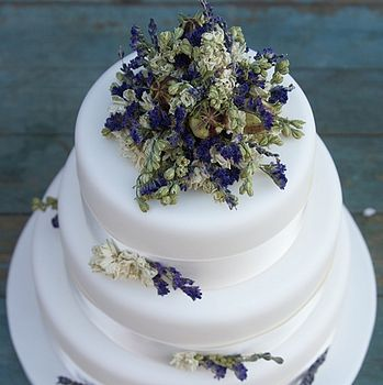 Provence Dried Flower Cake Decoration