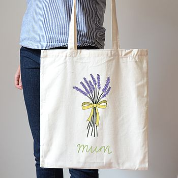 Personalised Lavender Canvas Bag