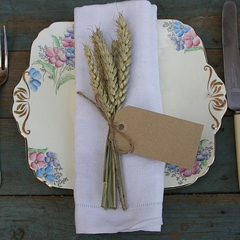 Wheat Napkin Posy Set Of Ten