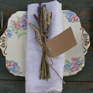 Lavender & Wheat Napkin Posy Set Of Ten - table linen