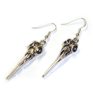 Bird Skull Earrings - women's jewellery