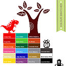 wall stickers (wall decal) bright colour swatch