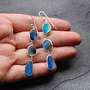 Sea Shades Sea Glass Silver Earrings