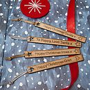 Personalised Wooden Christmas Bookmark