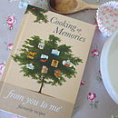Cooking Up Memories Recipe Record Book