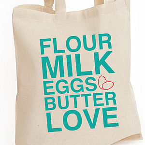Baking Typography Cotton Tote Bag