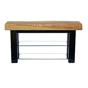Oak And Iron Large Tv Stand
