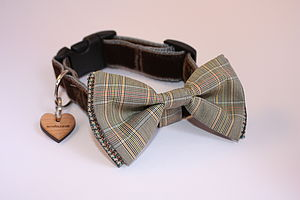 Scrufts Astaire Bow Tie Dog Collar - dog collars