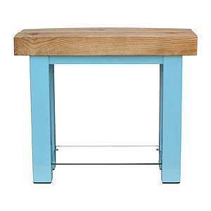 Oak And Iron Console Table