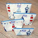 Sail Boats Nautical Toiletry Wash Bag All Sizes