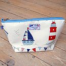 Sail Boats Nautical Toiletry Wash Bag Medium