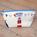Sail Boats Nautical Toiletry Wash Bag Small