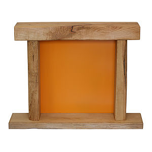Oak And Iron Fire Place - home sale
