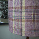 Handmade Plaid Wool Lampshade