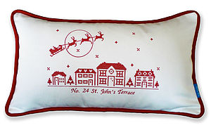 Personalised Christmas Street Cushion - cushions