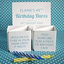 Personalised Birthday Dares Popping Card