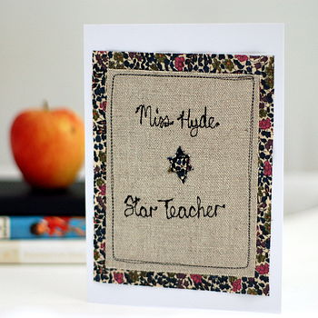 Personalised Star Teacher Card