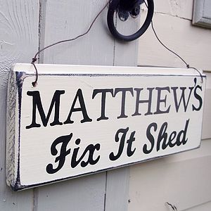 Personalised Shed Sign - decorative accessories