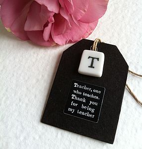 'Thank You Teacher' Porcelain Token