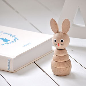 Wooden Rabbit Stacking Toy - traditional toys & games