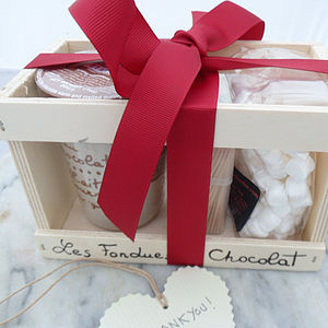 Personalised Chocolate Fondue And Marshmallow Set - food gifts