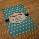 Spotty Themed Vintage Wedding Invitations