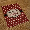Spotty Themed Vintage Wedding Invitations