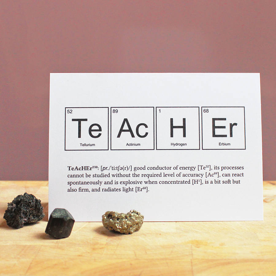 Teacher periodic table humourous card by newton and the apple teacher periodic table humourous card urtaz Images