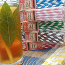 Box Of Retro Paper Straws