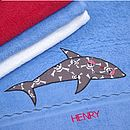 Personalised Blue Swimming Towel