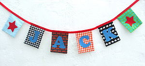 Personalised Bunting For Boys - decorative letters