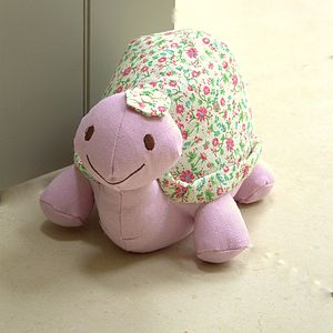 Ditsy Turtle Doorstop - children's room accessories