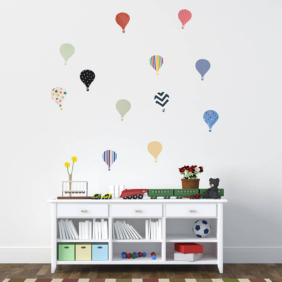 39 children 39 s hot air balloon 39 wall stickers by oakdene for Childrens bedroom wall designs