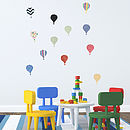 'Children's Hot Air Balloon' Wall Stickers