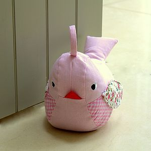 Ditsy Birdy Doorstop - children's room accessories